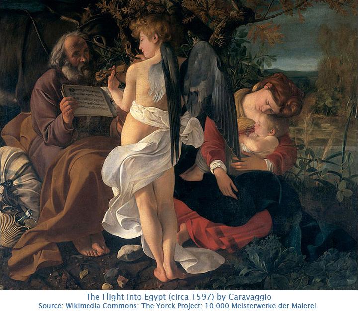 Caravaggio-Flight into Egypt