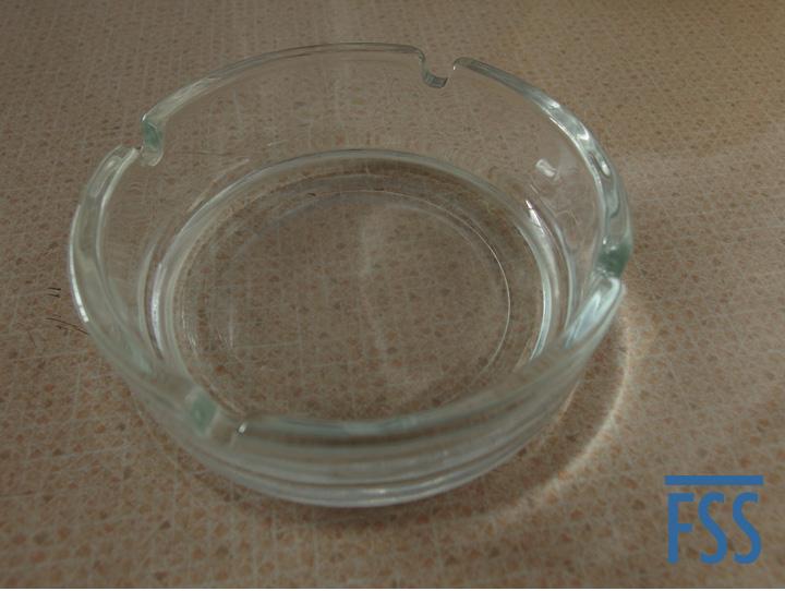 The nest dish: a glass ashtray