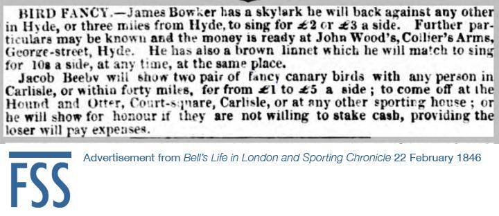 Bird challenge Bells Sporting Chronicle-FSS