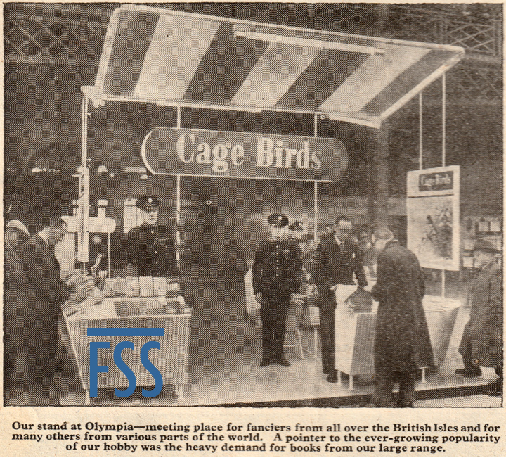 Cage Birds stand 1954 National-FSS