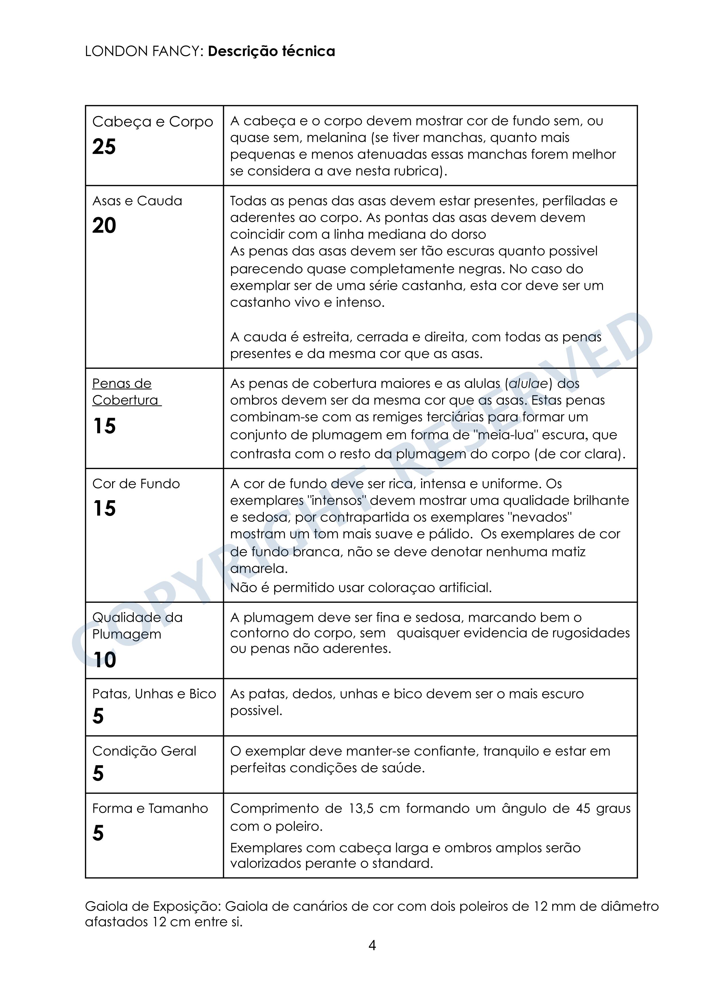 LF standard-Tech Descrn PORTUGUESE