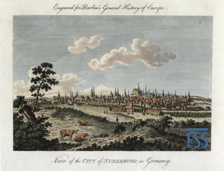 Nuremberg Lizard Nuremberg ca 1770 RareMapsandBooks